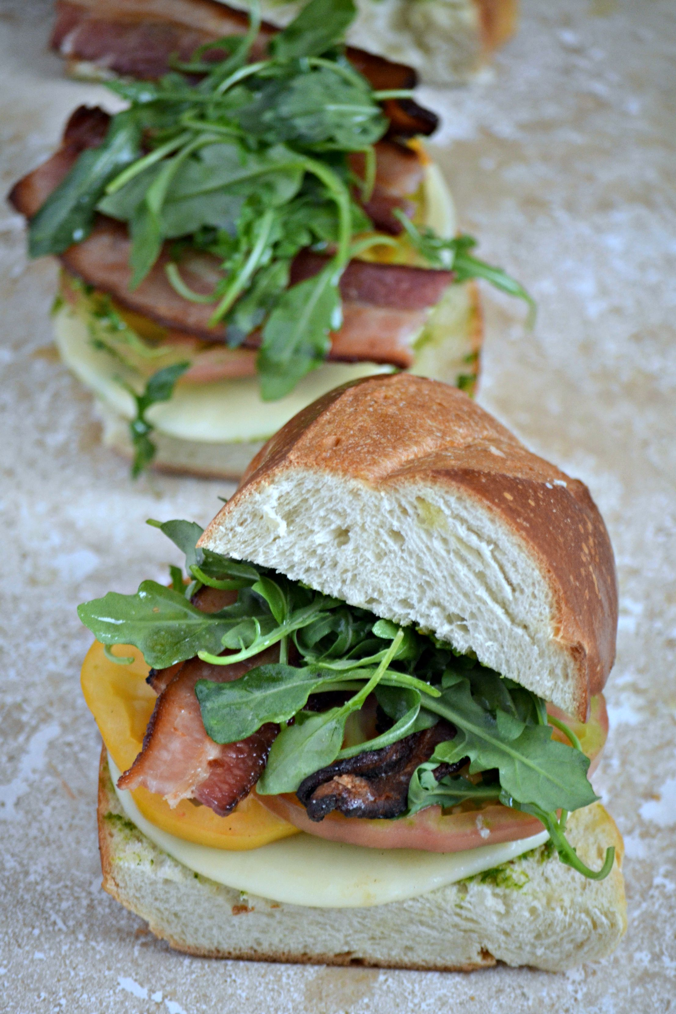 Bacon, Arugula & Heirloom Tomato BLT Sandwich + Kale Basil ...
