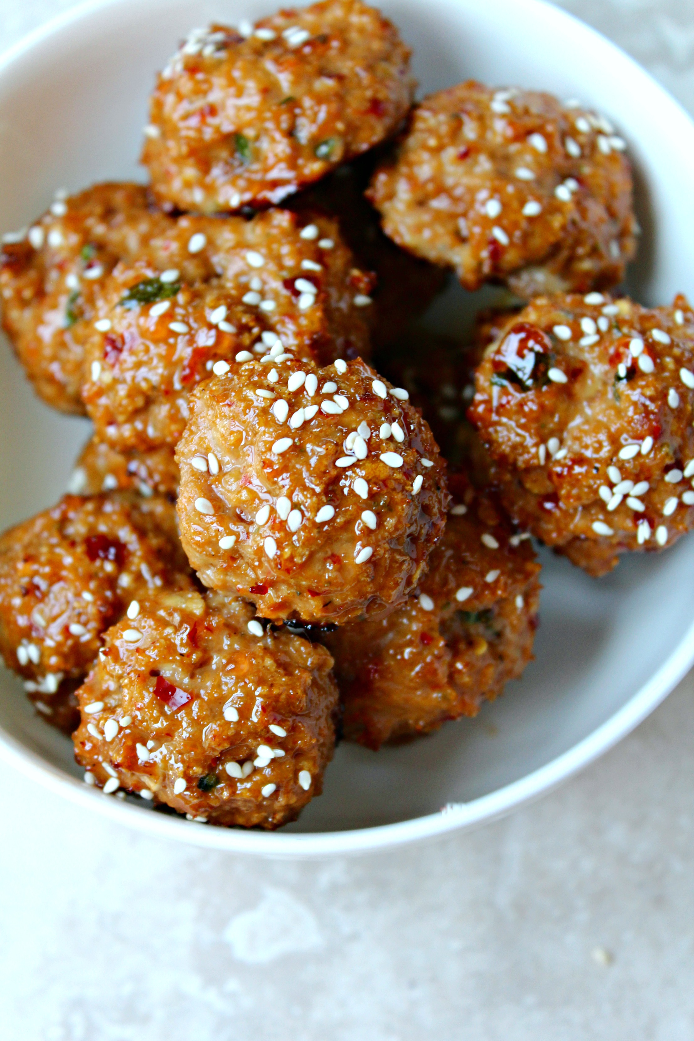 Sweet and Spicy Asian Meatballs - The Secret Ingredient ...